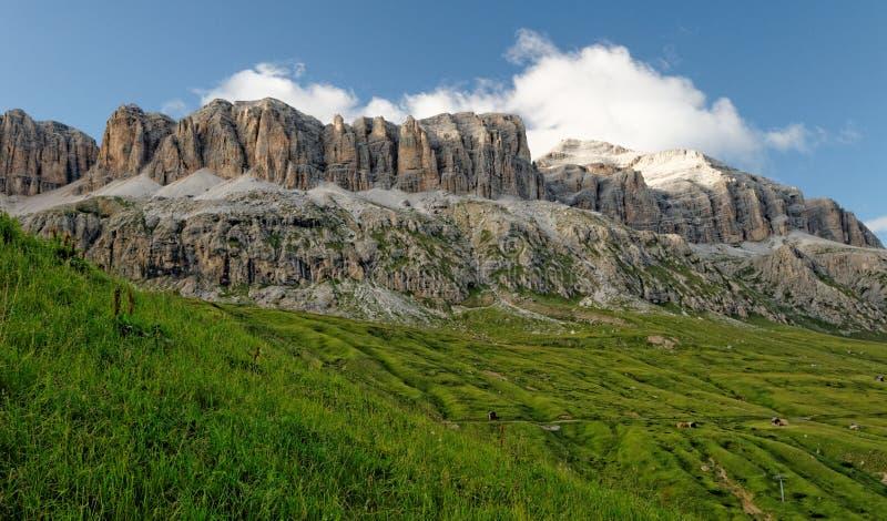 Dolomites mountain range royalty free stock photography