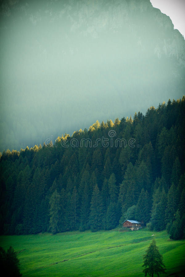 Dolomites mountains in Italy stock photography
