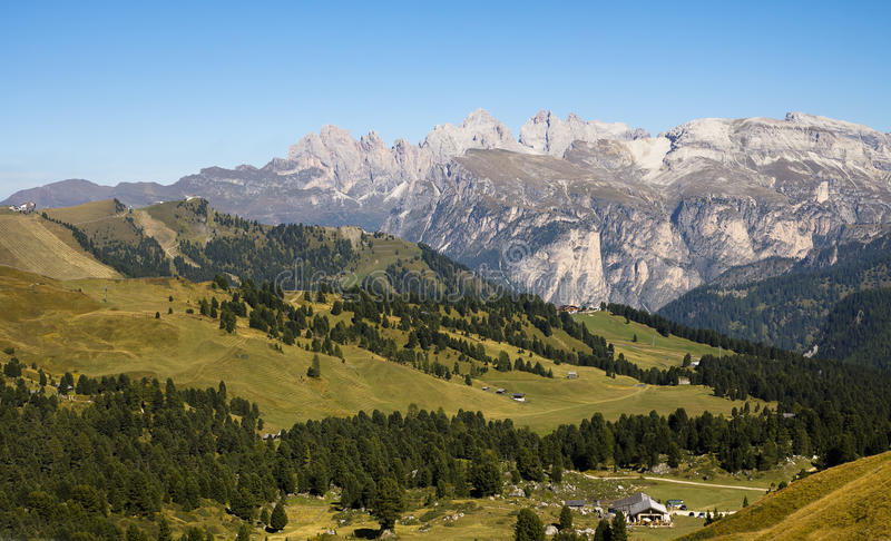 Dolomites Passo Sella, Italy royalty free stock images