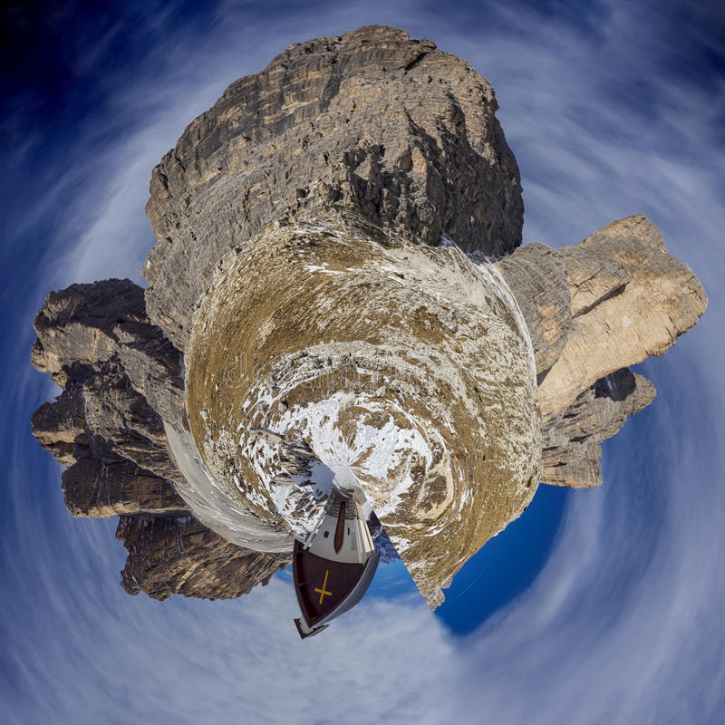 Dolomites pouco planeta fotografia de stock royalty free