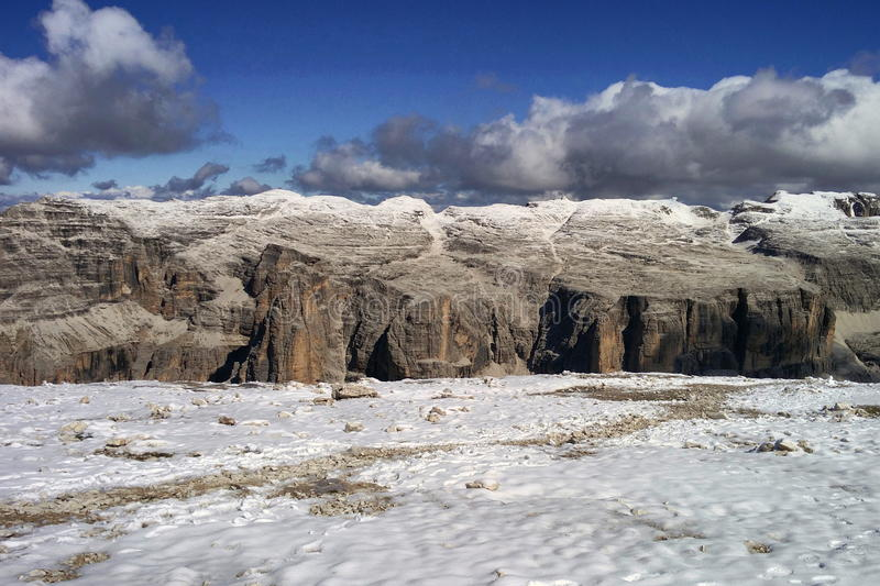 Dolomites and snow royalty free stock images