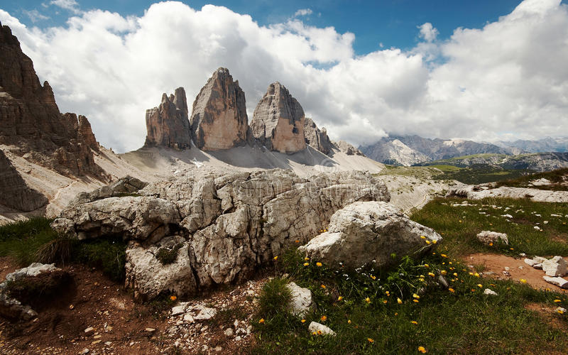 Download Dolomites view stock photo. Image of cloud, cima, mountaneering - 25106728
