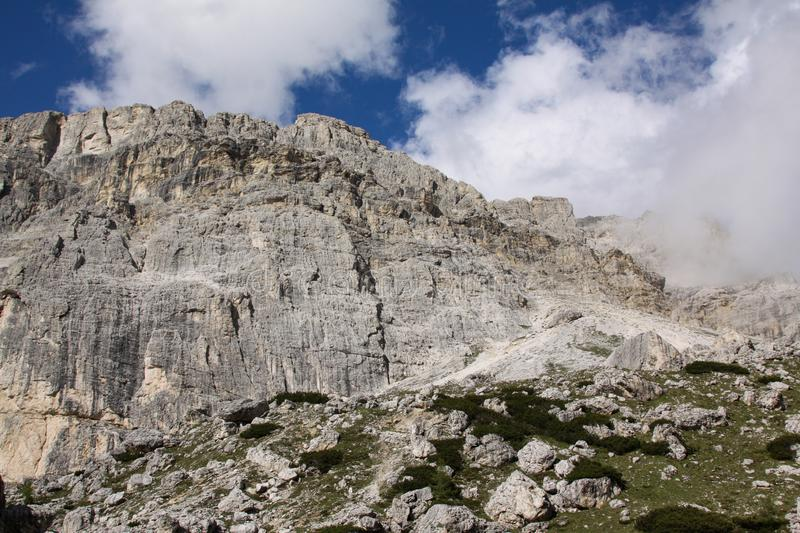 Dolomites wall royalty free stock photo
