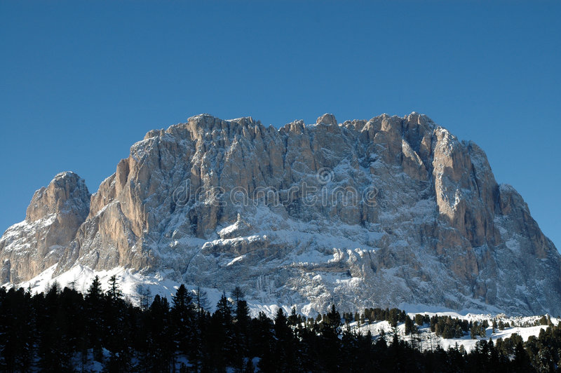Download Dolomites in wintertime stock photo. Image of larch, landscape - 4233654