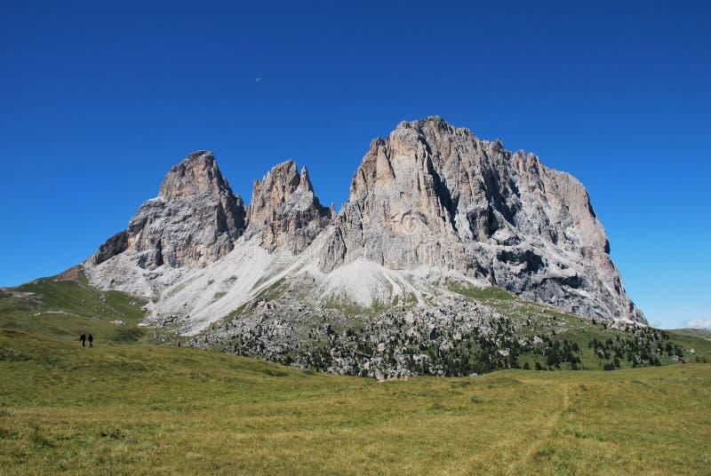 dolomiti意大利山全景 图库摄影