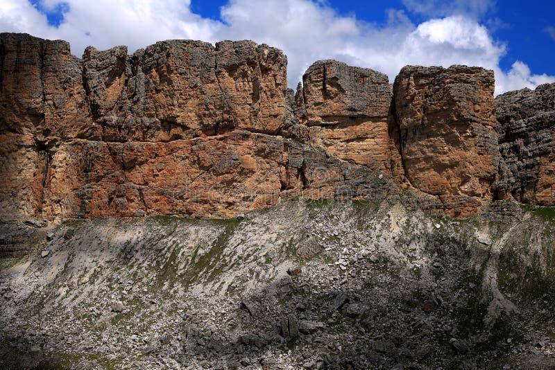 Dolomiti в сердце Альп стоковое изображение