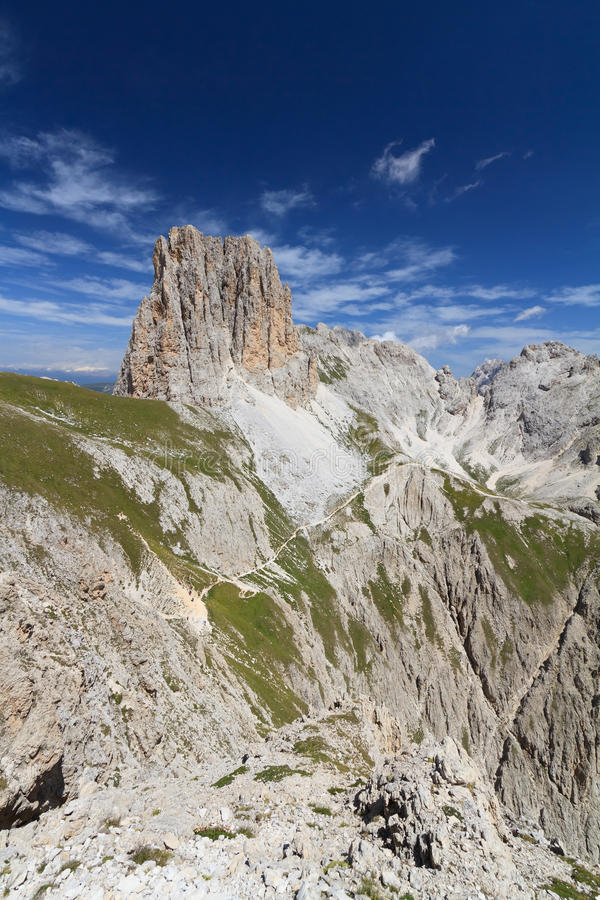 Dolomiti - Catinaccio Group Stock Photo
