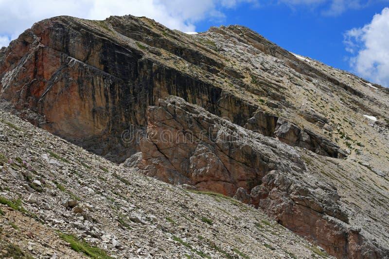 Dolomiti che fa un'escursione nel cuore delle alpi immagini stock libere da diritti