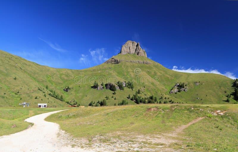 Dolomiti, Ciampac -, Canazei fotografia stock