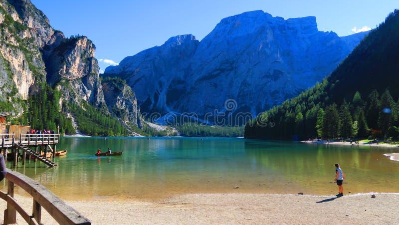 Dolomiti lake royalty free stock photo