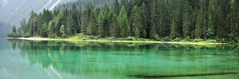 Dolomiti mountain green lake panorama1. Dolomiti mountain Tovel green lake panorama stock images