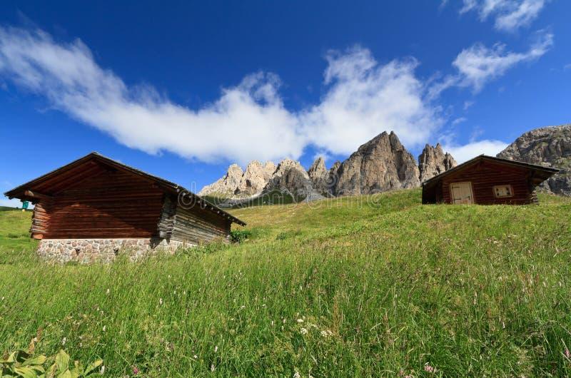 Dolomiti - stajnie na lato obraz royalty free