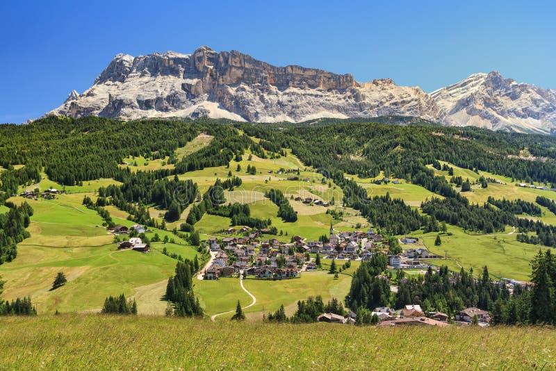 Dolomiti - Val Badia on summer royalty free stock photography