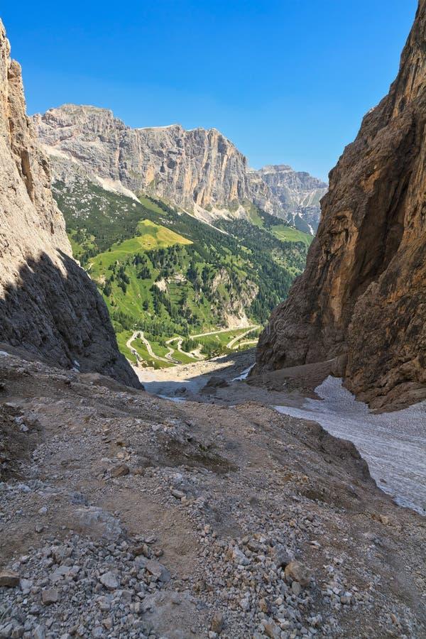 Dolomiti, Val - Setus obraz royalty free