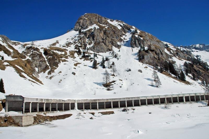 Dolomities, Dolomiti - Italie dans l'hiver photos stock