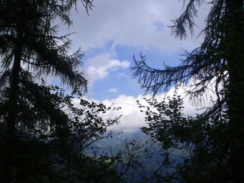 Dolomity berg royaltyfria foton