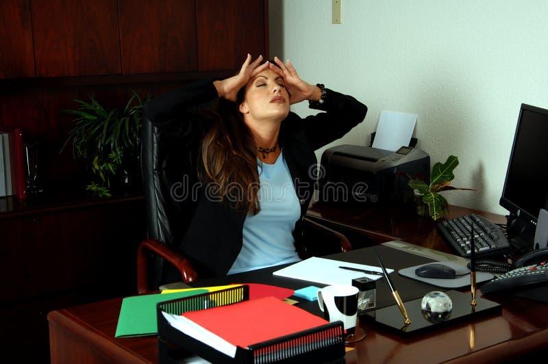 Dolor de cabeza de tensión foto de archivo libre de regalías