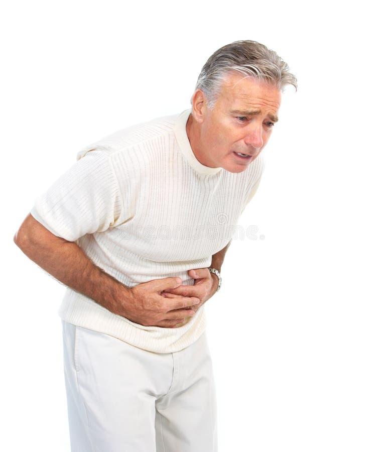 Dolor de estómago fotos de archivo