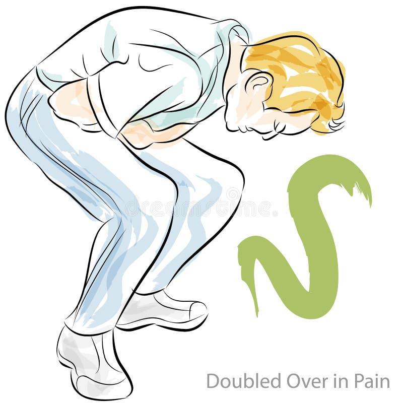 Dolor de estómago ilustración del vector. Ilustración de apéndice ...