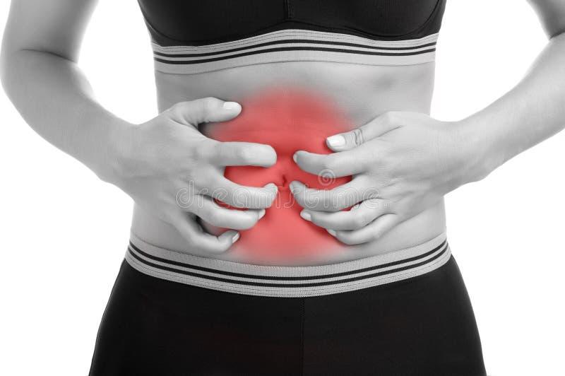 Dolor de estómago foto de archivo