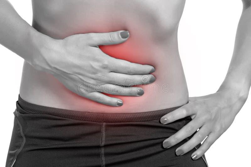 Dolor de estómago imagen de archivo