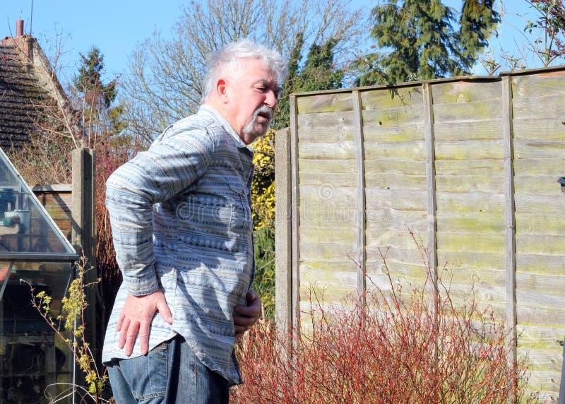 Dolor de la cadera, artritis foto de archivo