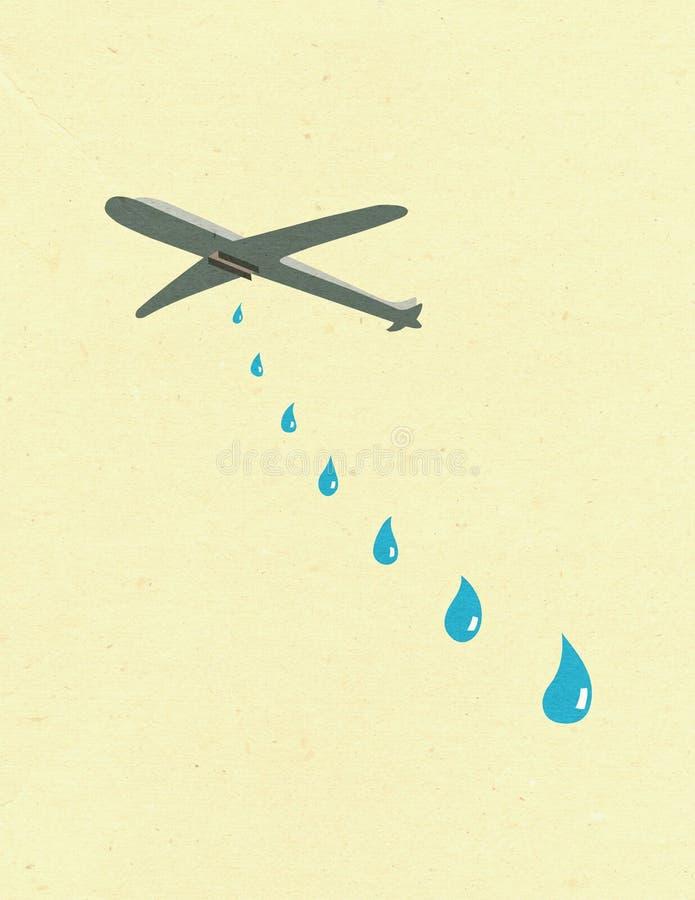Dolor de la guerra stock de ilustración