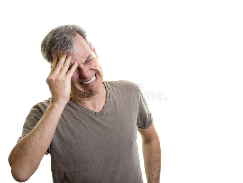 Dolor del dolor de cabeza fotos de archivo libres de regalías