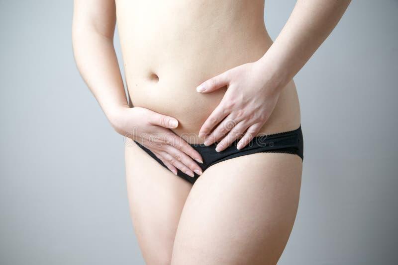 Dolor en abdomen fotos de archivo libres de regalías