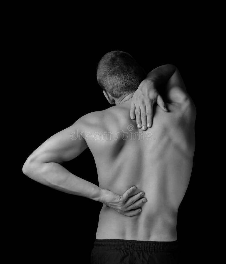 Dolor en la espina dorsal foto de archivo