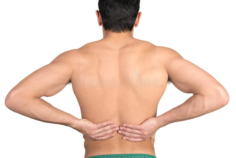 Dolore alla schiena immagine stock