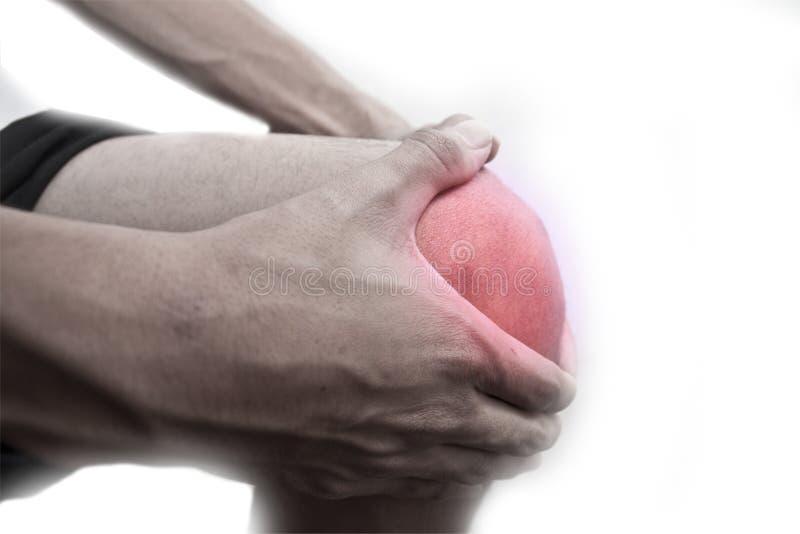 Dolore del ginocchio immagini stock