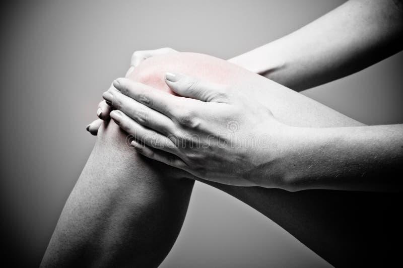 Dolore del ginocchio immagini stock libere da diritti