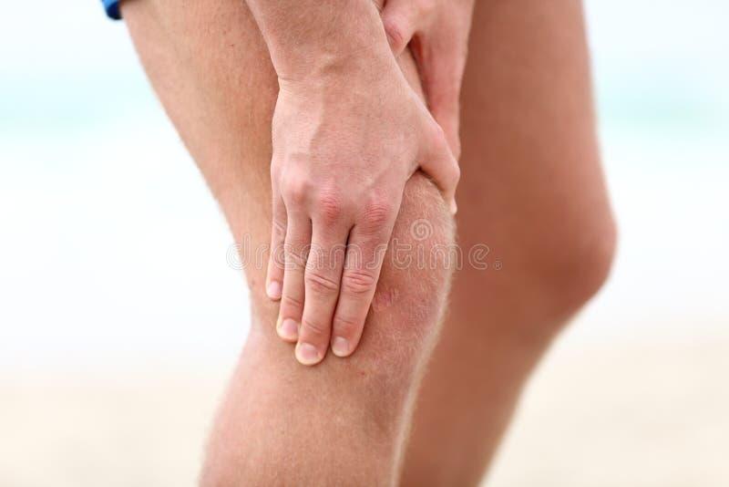 Dolore del ginocchio fotografie stock libere da diritti
