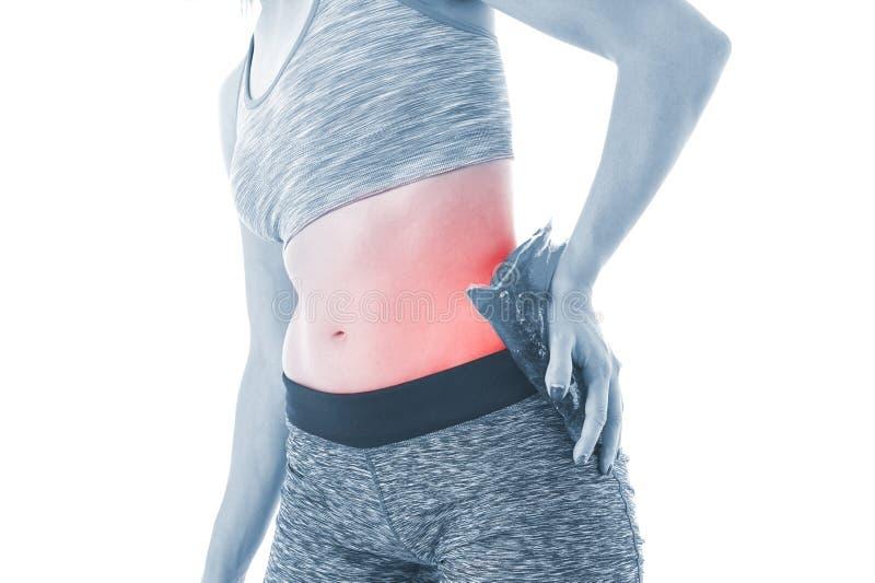 Dolore dell'anca fotografia stock