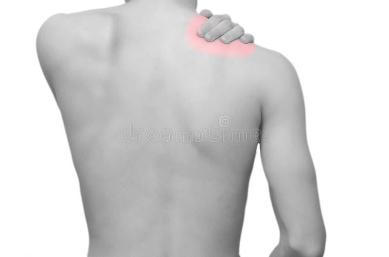 Dolore della spalla immagini stock