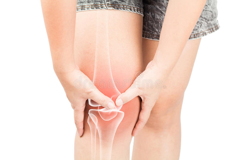Dolore di ossa del ginocchio immagini stock libere da diritti