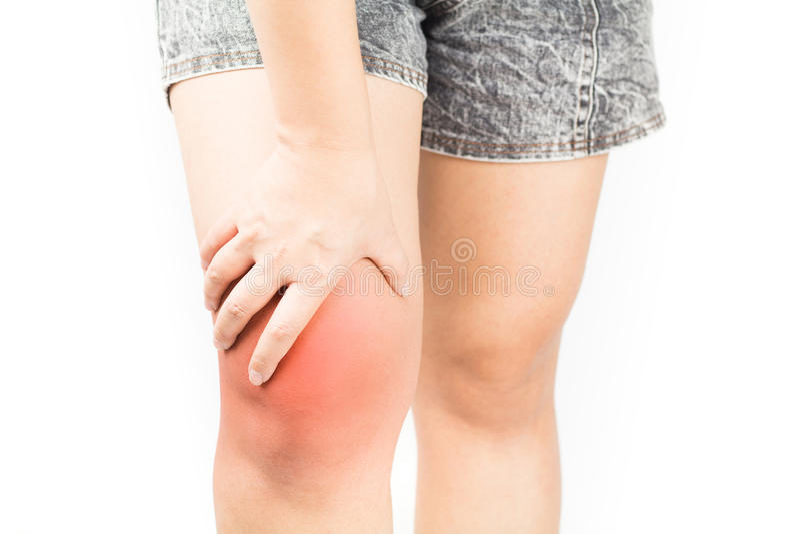 Dolore di ossa del ginocchio fotografia stock libera da diritti