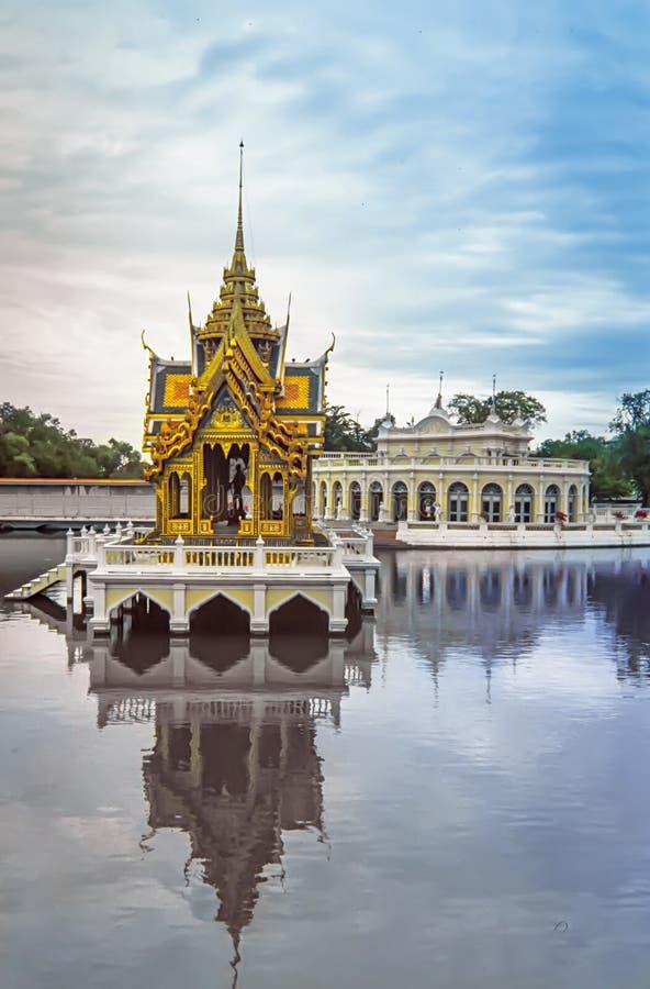 Dolore Royal Palace, palazzo di estate, Ayuttaya, Tailandia di colpo fotografia stock libera da diritti