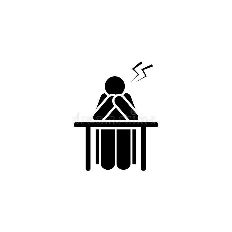 Dolore, studente, icona arrabbiata Elemento dell'icona del pittogramma di istruzione Icona premio di progettazione grafica di qua illustrazione vettoriale