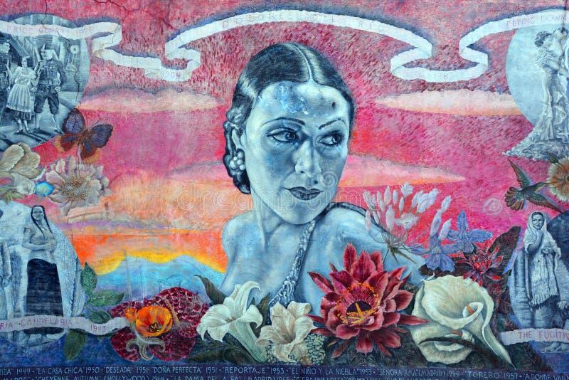 Dolores Del Rio mural stock photos
