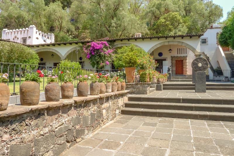 Dolores Olmedo Patino House Museum in Città del Messico fotografie stock libere da diritti
