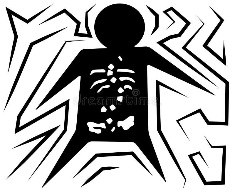 Dolori alla schiena illustrazione vettoriale