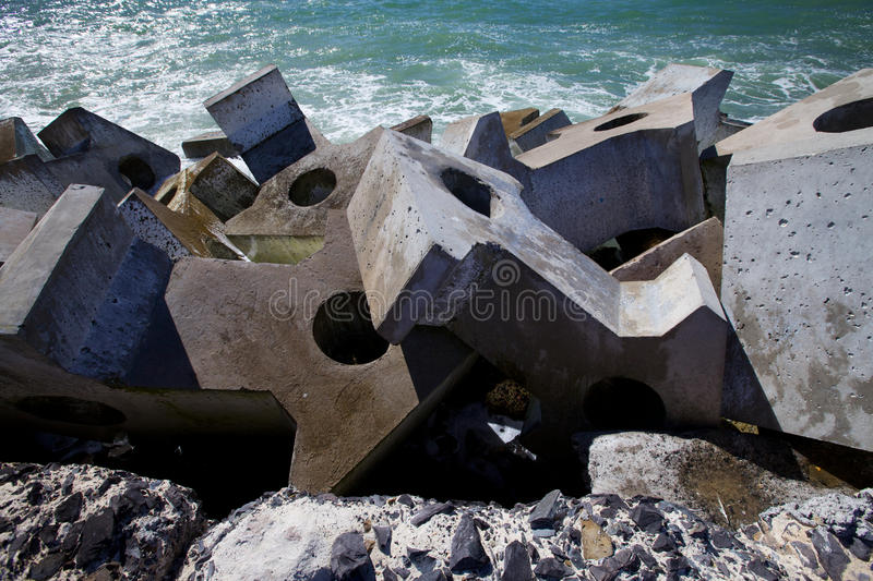 Download Dolos, Concrete Block Geometric Shape At Sea Stock Photo - Image: 15185194