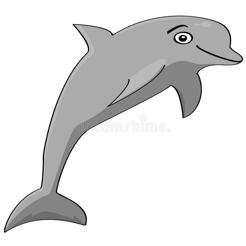 Download Dolphin stock vector. Image of mammal, dolphin, animal - 15863333