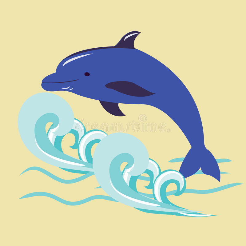 Dolphin royalty free illustration