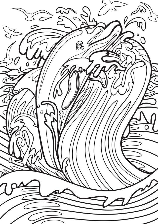 Download Dolphin stock vector. Illustration of pencil, original - 67470487