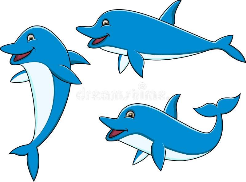 Dolphin Cartoon Collection Stock Photo