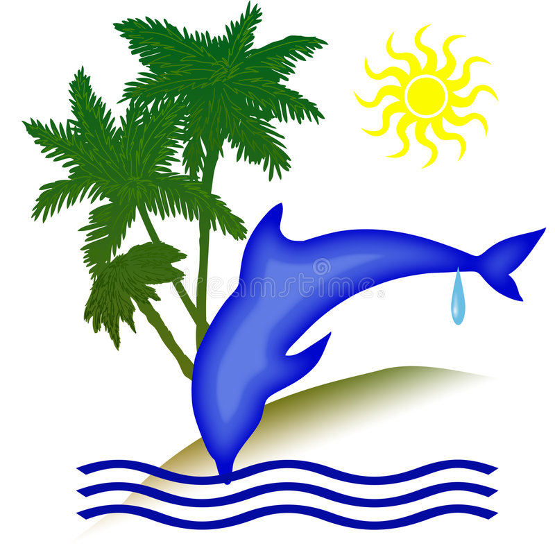 Dolphin holiday day royalty free illustration