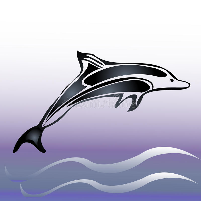 Download Dolphin jump stock vector. Image of leap, drawing, nosed - 21852213